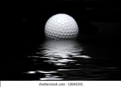 golf ball and reflection