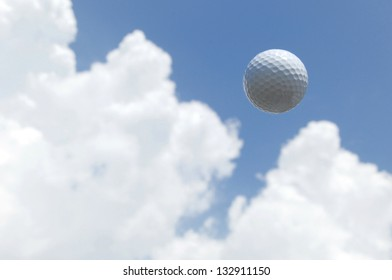 Golf ball in the sky