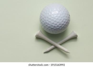 golf ball sport white background