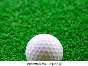 Golf ball, take a half ball.