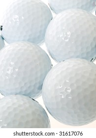golf balls as a background