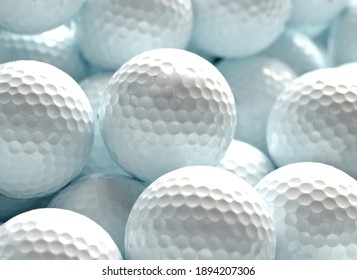 Golf balls background or texture