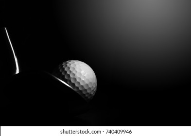 Golf balls and golf clubs to dark