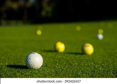Golf balls on the lawn