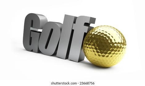 golf championship, gold ball