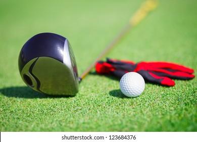 Golf in a golf club