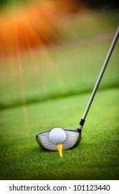 Ein Golfclub auf einem Golfplatz