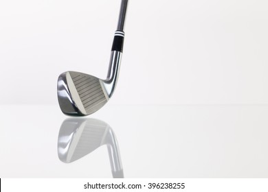 Golf club on the glass table