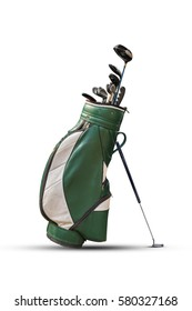Golf clubs and Bag Isolated.