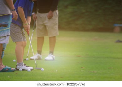 Golf Coaching in the golf course