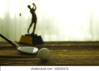 Golf concept with of sport champion Golf
