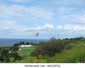 Golf Course American Flag