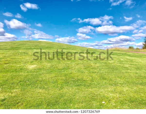 Golf Course Background Backgrounds Textures Stock Image 1207326769