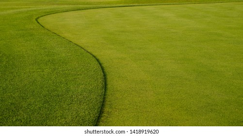 golf course, background of green grass, minimalism concept