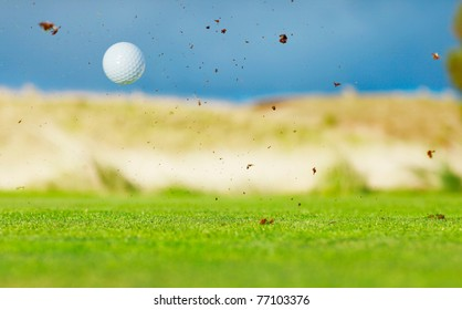 Golf course and ball
