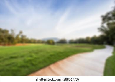 Blur Golf Course Background Images Stock Photos Vectors Shutterstock
