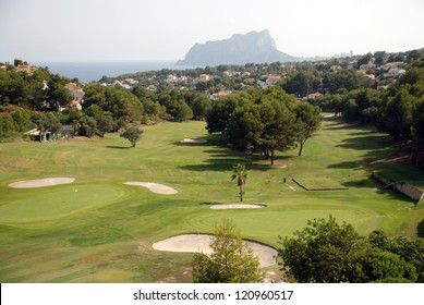 The golf course close to Calpe on the costa blanca