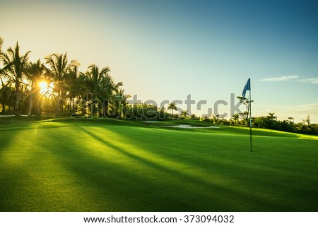Golf course in the countryside