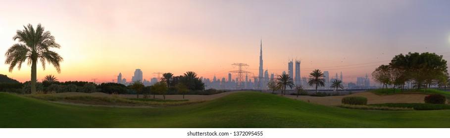 the golf course in dubai