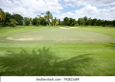 Golf course element. Golf course in Thailand. Beautiful golf course.