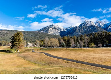 Golf Course at Fairmont Hot Springs in the East Kootenays near Invermere British Columbia Canada in the early winter.