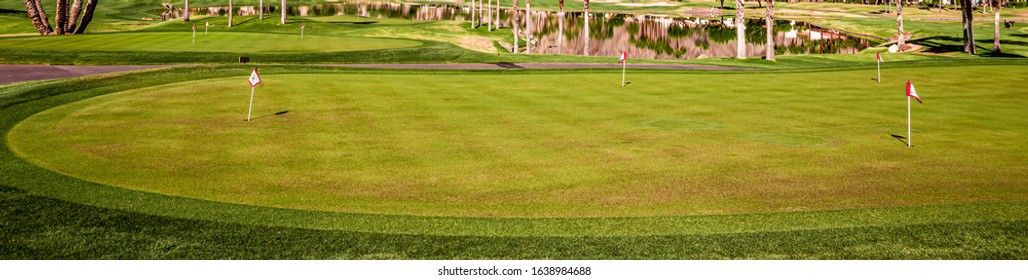 golf course , greens and fairways in california