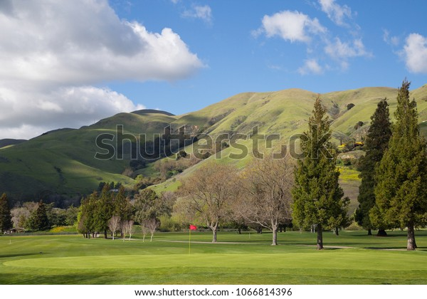 Golf Course Hill Background Stock Photo Edit Now 1066814396
