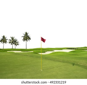 Golf course isolated