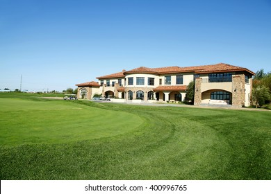 The golf course landscape