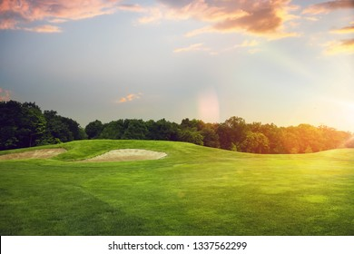 Golf course, launching point