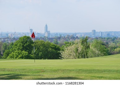 Golf Course with London City View