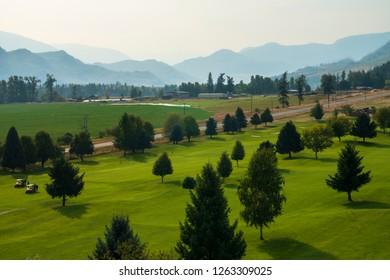 Golf course near Kamloops, British Columbia, Canada, North America