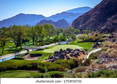 golf course in  Palm Springs, California, usa