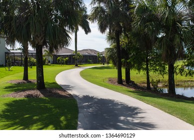 Golf course path for golf carts in a South Florida golf community.