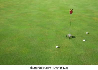 Golf course, putter practice area