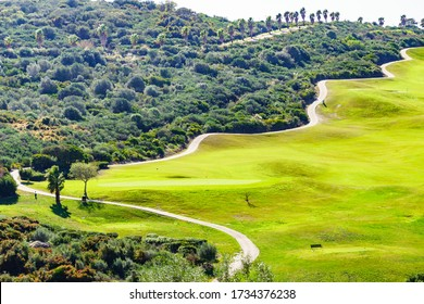 Golf course in Sotogrande, Andalusia Spain