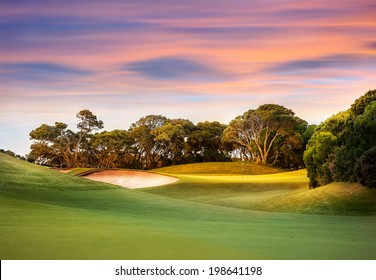 Golf Course at Sunset