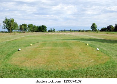 golf course tee box landscape