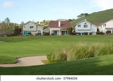 golf course views with sand trap