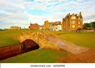 Golf course,Swilcan Bridge, St Andrews