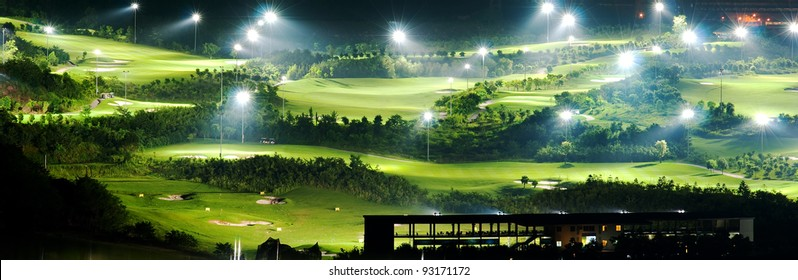 golf court at night