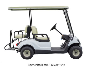 Golf electric car isolated on white background