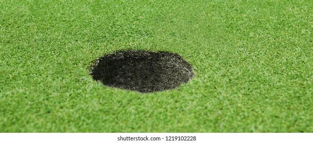 Golf hole background close up