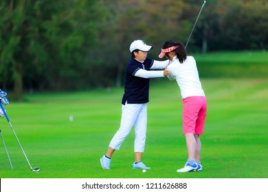 Golf lessons and Japanese women