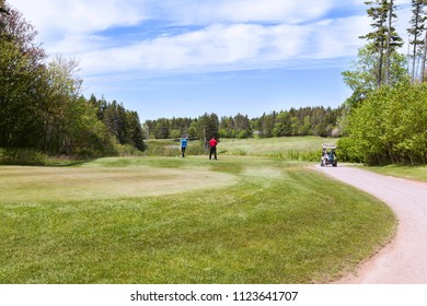 Golf players at Prince Edward Island Canada