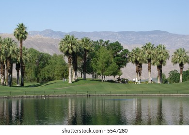 Golf Resort in Palm Springs with Mountains in background