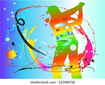 golf  sport art
