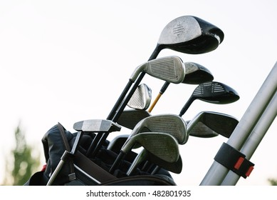 Golf sticks on Golf Club. Golf Concept.