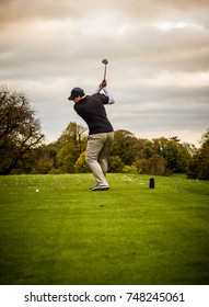 Golf swing at full power