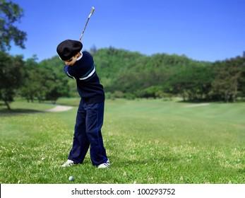 Golf swing junior